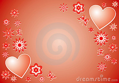 Valentine background, vector