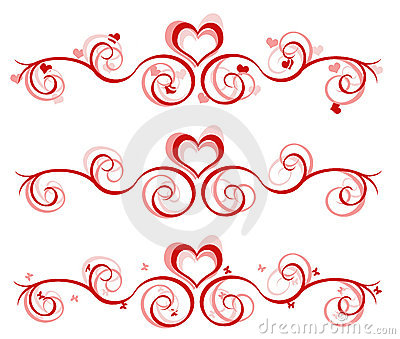 Valentine Banner - 3 Designs Stock Photography - Image: 3998242
