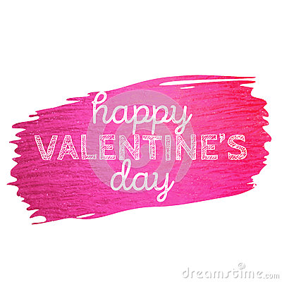 Free Valentine Banner With Pink Glitter Paint Stroke. Happy Valentine`s Day Royalty Free Stock Photo - 83736055