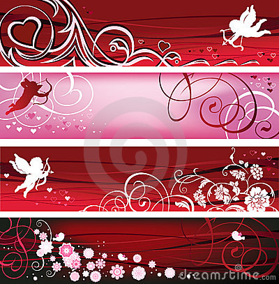 Free Valentine Banners. Royalty Free Stock Photo - 12322515