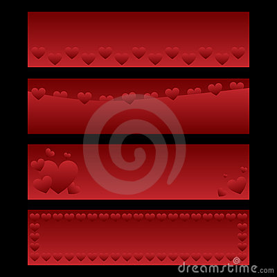 Free Valentine Banners Stock Images - 17454384