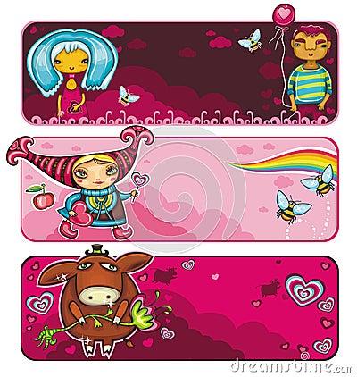 Valentine banners series