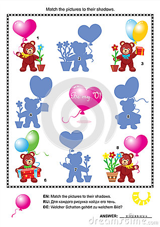 Valentine bears shadow game