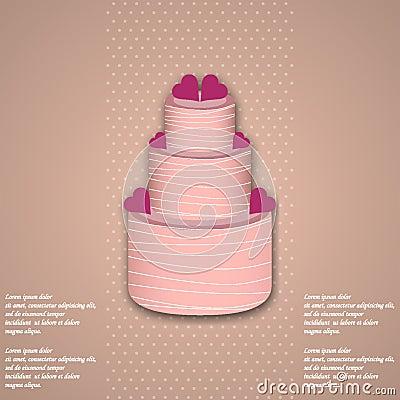 Free Valentine Cake Royalty Free Stock Photos - 65770858