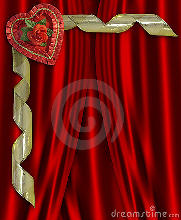 Free Valentine Candy Heart Red Satin Royalty Free Stock Photography - 7959847