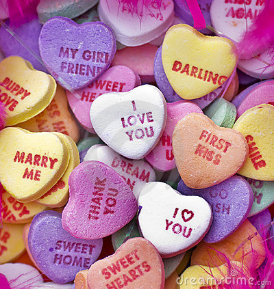 Valentine candy sweets