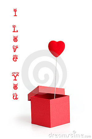 Valentine card with box and heart