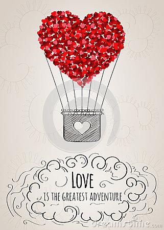 heart air balloons card card with a shaped air balloon and a 4652