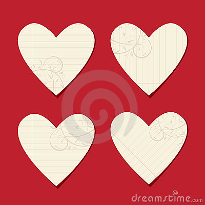Valentine cards from sheet of paper