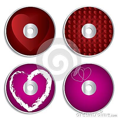 Valentine cd & dvd labels