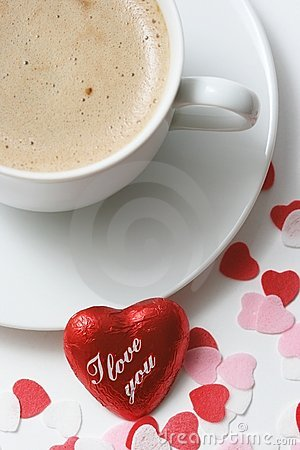Free Valentine Coffee Royalty Free Stock Photos - 4242928