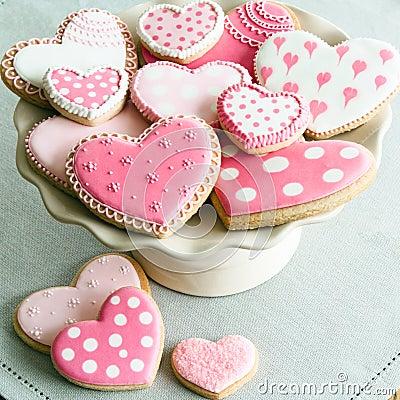 Free Valentine Cookies Royalty Free Stock Photos - 36476648