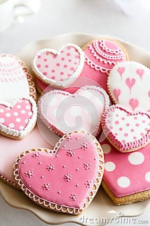 Free Valentine Cookies Stock Image - 67424261