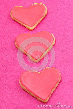 Valentine cookies in the shape of heart