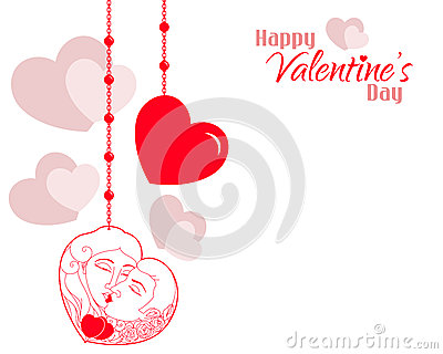 Valentine Couple Hearts Background