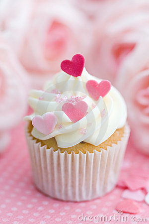 Free Valentine Cupcake Stock Photography - 12637942