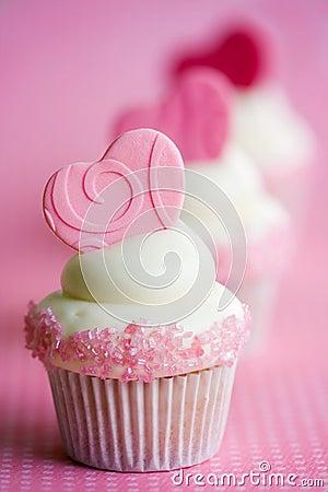 Free Valentine Cupcakes Royalty Free Stock Image - 67425696