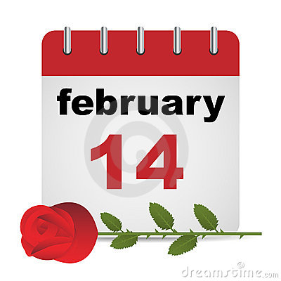 Valentine day calendar