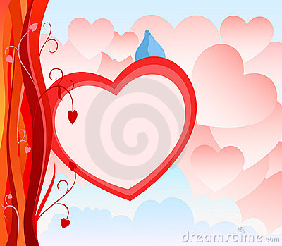 Valentine Day Card With Abstract Heart Background Stock Images - Image: 17747914