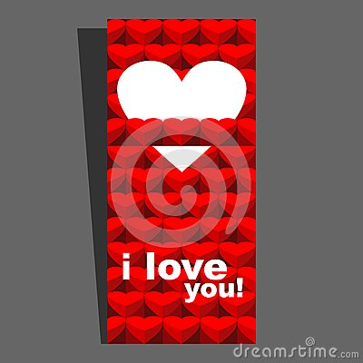Valentine day card red I