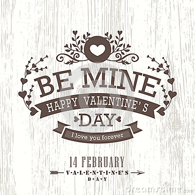 Free Valentine Day Card With Floral Vintage Frame On Wooden Background Royalty Free Stock Photos - 49852128