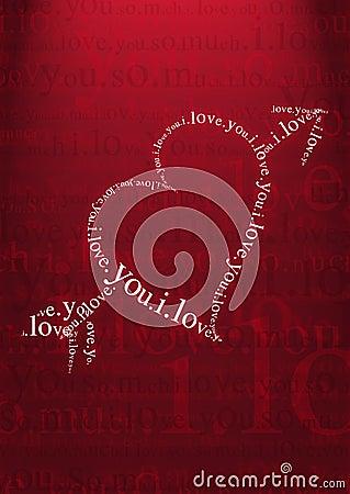 Valentine Day heart greeting