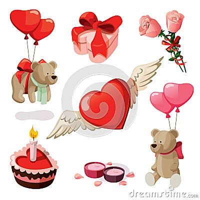 Free Valentine Elements Royalty Free Stock Photo - 22846895