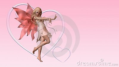 Valentine Fairy Card with Copyspace - 3