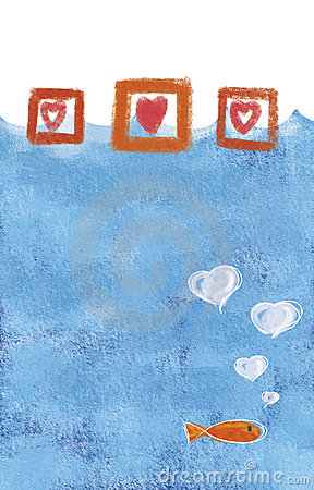 Valentine fish - illustration