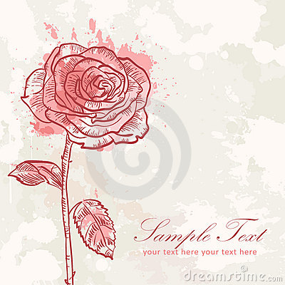 Valentine flower grunge invitation love card