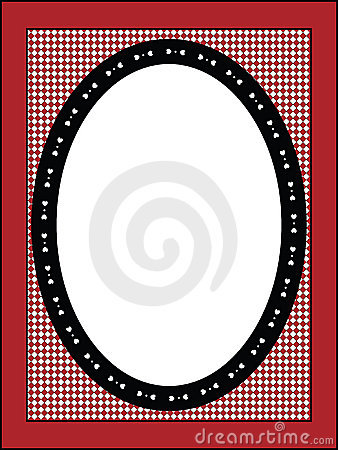 Valentine Frame or Tag With Gingham Trim