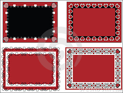 Valentine Frame or Tags With Gingham Trim