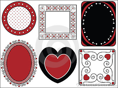 Valentine Frame of Tags With Gingham Trim