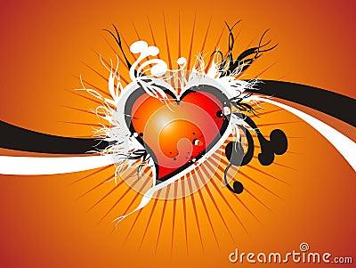Valentine fresh heart floral