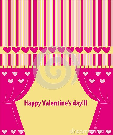 Valentine greeting card wiht hearts