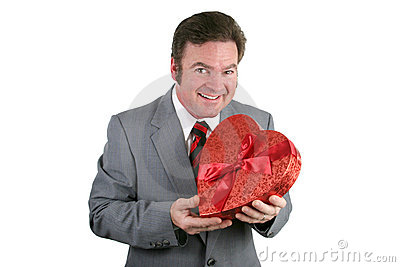 Valentine Guy with Candy
