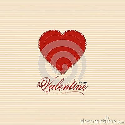 Valentine heart background with valentine message