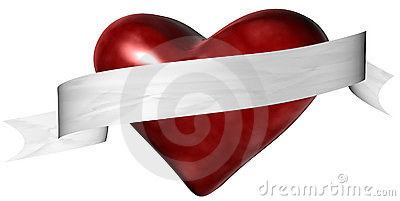 Valentine Heart with Banner