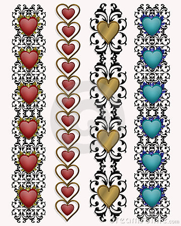 Valentine Heart borders