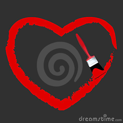 valentine Heart brush Vector