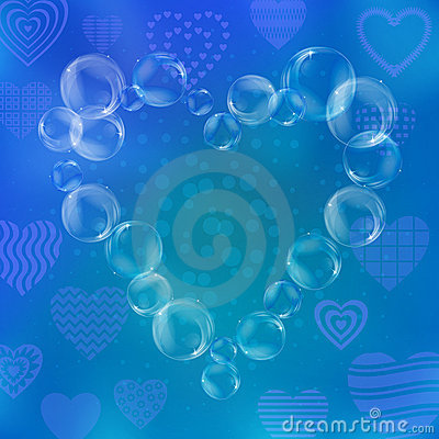 Valentine heart from bubbles
