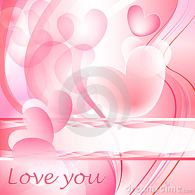 Valentine heart bubbles