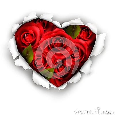 Valentine Heart Card Design.