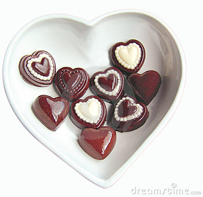 Valentine heart chocolates