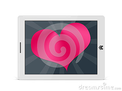 Valentine heart on digital pad