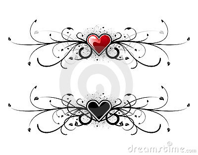 Valentine heart floral