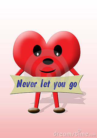 Valentine heart: never let you go