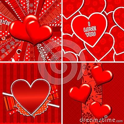 Valentine heart pattern and background