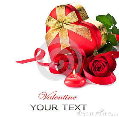 Free Valentine Heart Shape Gift Box Royalty Free Stock Images - 37213469