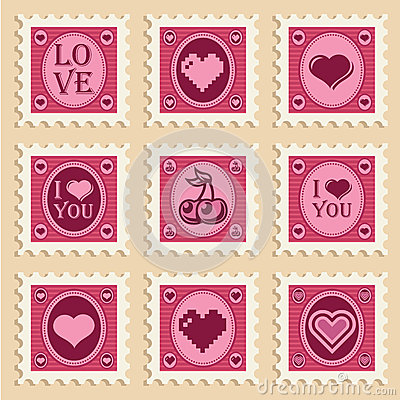Valentine Heart Stamps